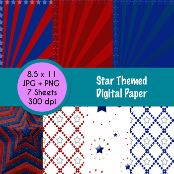 Star Themed Digital Paper - FREE!