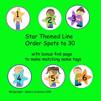 Star Themed Line Order Spots 1-30