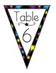 Star Themed Pennant Table Signs