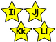 Star Themed Word Wall Letter Headings