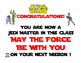 Star Wars Theme Certificates.  A variety of options !