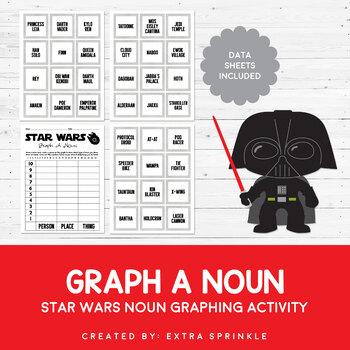 Star Wars Inspired Graph A Noun Activity and Data Sheets