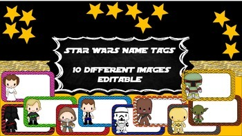 Star Wars Labels/name tags