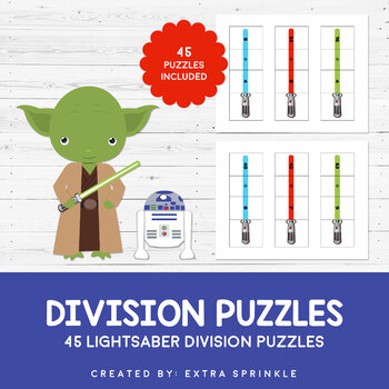 Star Wars Inspired Lightsaber Division Puzzles