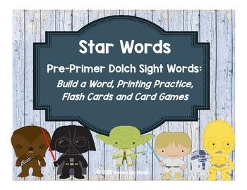Star Words Pre-Primer Dolch Sight Words: Build a Word, Pri