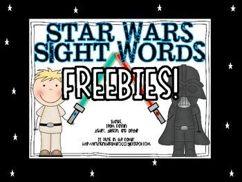 Star Wars Sight Words: Freebies