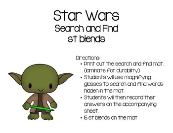Star Wars St Blends Search and Find