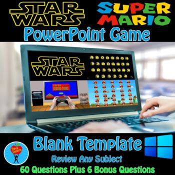 Star Wars & Super Mario PowerPoint Game Bundle - 2 Customi