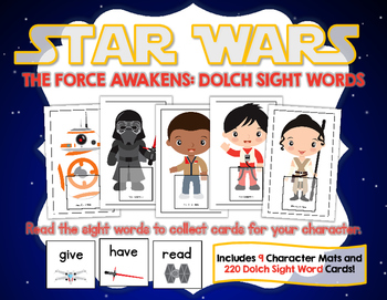 Star Wars The Force Awakens:  Dolch Sight Words Game (with