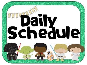 Star Wars Theme Daily Schedule Analog & Digital