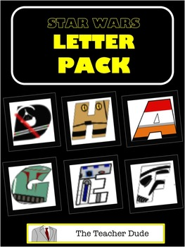 Star Wars Themed Alphabet Letter Pack