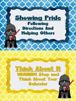 Star Wars Themed Clip Chart