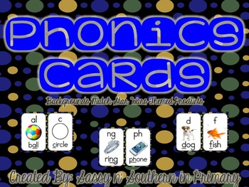 Star Wars Themed Phonics Cards (Black Polka Dot)