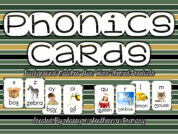 Star Wars Themed Phonics Cards (Green Striped)