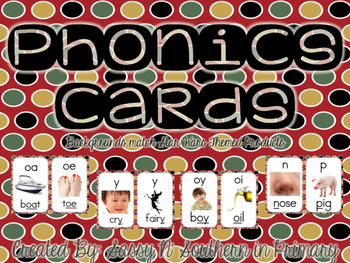 Star Wars Themed Phonics Cards (Red Polka Dot)