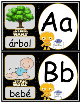Star Wars abc in Spanish