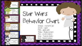 Star Wars behavior chart
