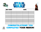 Star Wars theme incentive tracker 2 Sizes Poster and binde