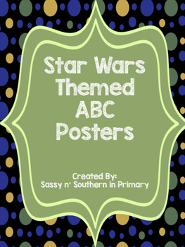 ABC Posters (Black Polka Dot matches other Star Wars products)