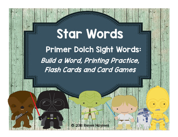 Star Words Primer Dolch Sight Words: Build a Word, Printin
