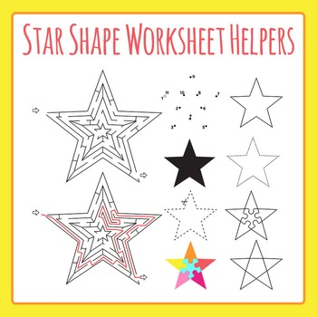 Star Worksheet Helpers Clip Art for Commercial Use