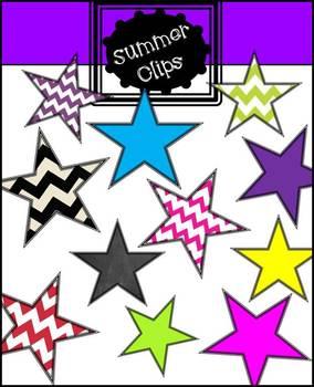 Star clip art Colorful and Chevron
