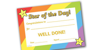 Star of the Day A4 Poster