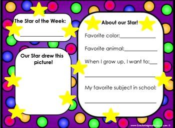 Star of the Week Flipchart