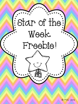 Star of the Week Freebie