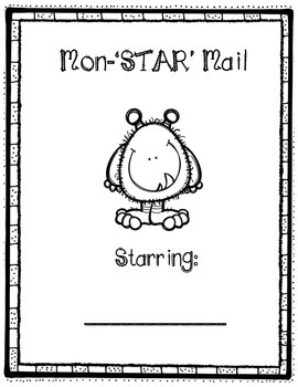 Star of the Week- Monster Theme- Writing Paper