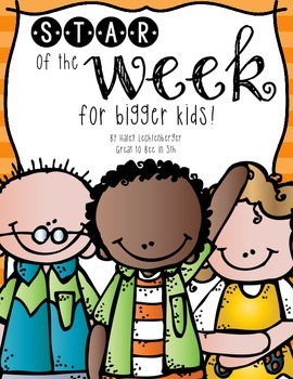 Star of the Week Printables for Bigger Kids!