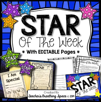 Star of the Week Program Pack --- Includes EDITABLE Pages!!!