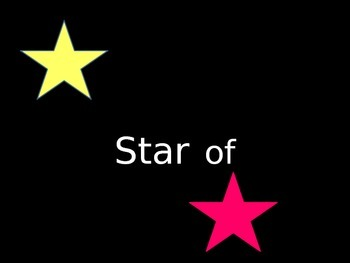 Star of the Week Title Sign (polka dot theme)