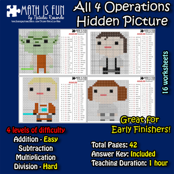 Star Wars - Mystery Picture - 4 operations - Four level di