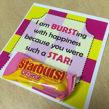 Starburst Printable - BURSTing with Happiness - Editable