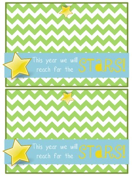 Starburst Treat Tag for Beginning of the Year