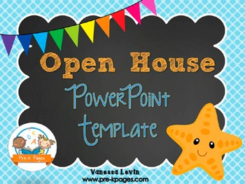 Starfish Theme Open House Back-to-School PowerPoint Templa