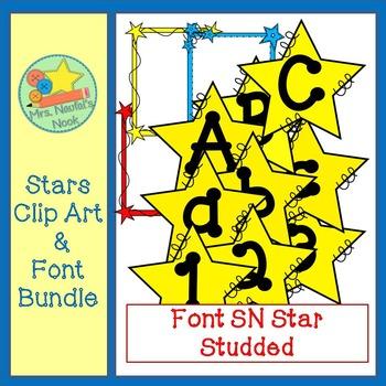 Stars Clip Art & Font Bundle
