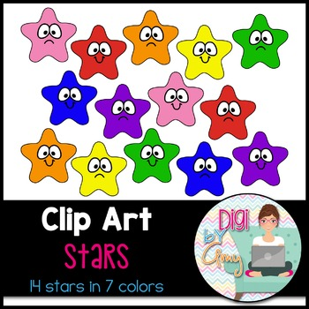 Stars Clip Art - Smiles and Frowns