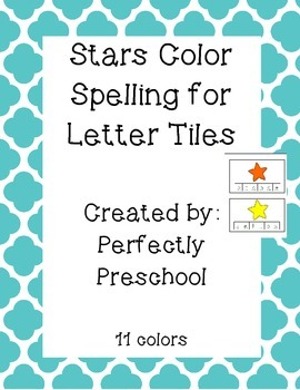 Stars Color Word Spelling Tiles