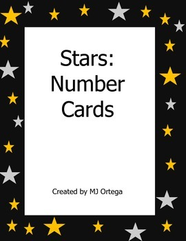 Space Theme:Stars Number Card and Calendar Numbers