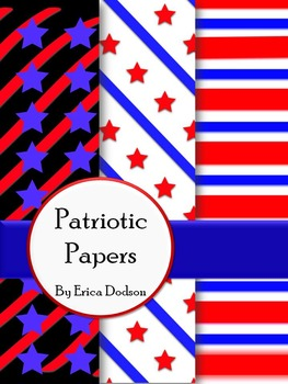 Stars & Stripes Patriotic Background Papers FREEBIE!