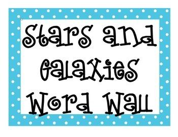 Stars and Galaxies Word Wall