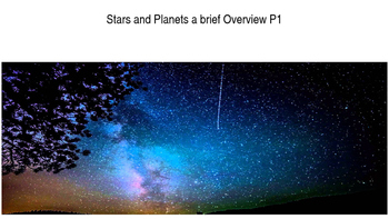 Stars and Planets brief overview P1