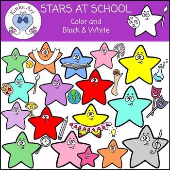 Stars at School Clip Art