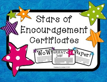 Stars of Encouragement Certificates (FREE)