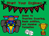 Start Your Engines!!! Kindergarten Math Game~Counting, Num