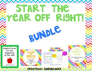 Start the Year Off Right - Back to School BUNDLE