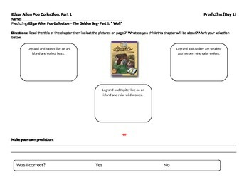 Start-to-Finish Guided Reading Student Worksheets for Edga