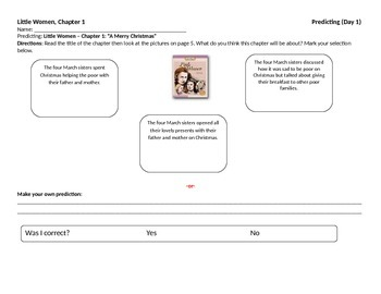 Start-to-Finish Student WS for Guided Reading for Little Women